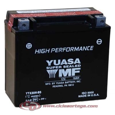 Bateria YUASA YTX20H-BS ACTIVADA