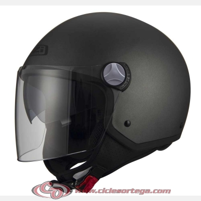 Casco Jet NZI CAPITAL2 DUO ANTRACITE mate talla M
