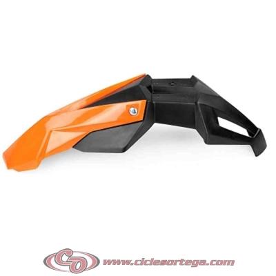 Guardabarros delantero Supermotard Universal negro naranja de TNT
