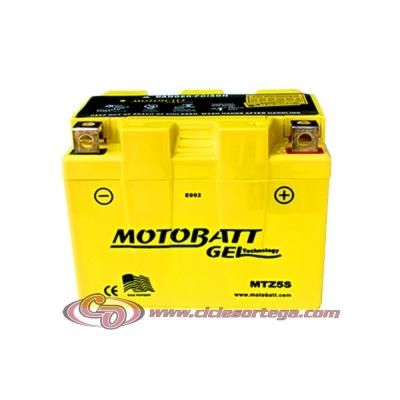 Bateria de Gel MTZ5S equivalente a YTX4L-BS de Motobatt