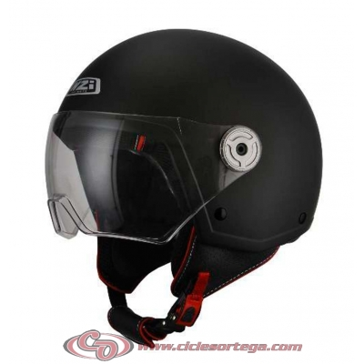 Casco NZI Jet VINTAGE 3 MATT BLACK