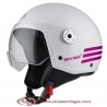 Casco NZI Jet VINTAGE 3 TRIBAND PEARL WHITE PINK Talla S