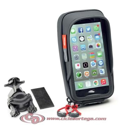 Porta Smartphone universal GIVI S957B compatible con Roller, Motorrad y Bicicleta