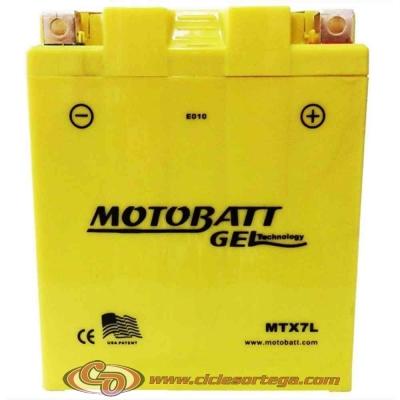 Bateria de Gel MTX7L equivalente a YTX7L-BS de Motobatt