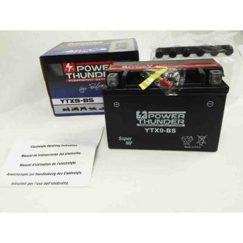 Bateria POWER THUNDER YTX9-BS ACTIVADA BTX9-BS CTX9-BS DTX9-BS ENVIO 24 HORAS