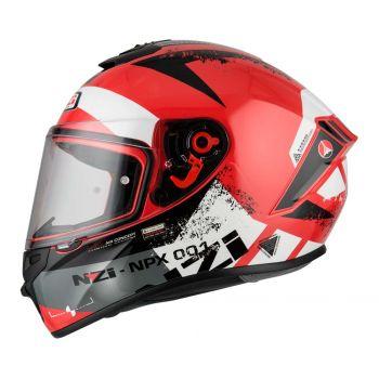 Casco Integral para Moto NZI TRENDY CANADIAN RED WHITE