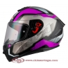 Casco Integral para Moto NZI TRENDY METAL BLACK PURPLE