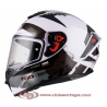 Casco Integral para Moto NZI TRENDY CANADIAN WHITE BLACK