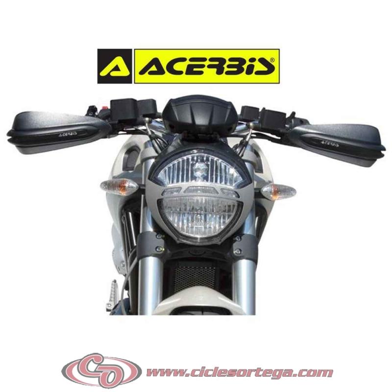 Dual Road Par de protectores de manos para motos naked y Enduro Acerbis Color: Blanco//negro