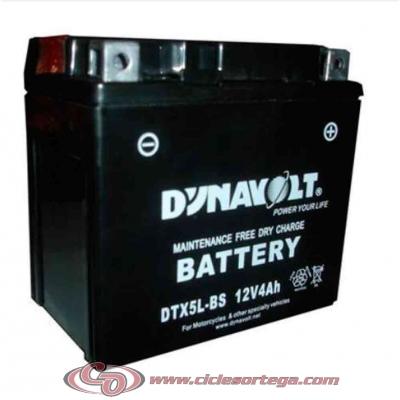 Bateria DYNAVOLT DTX5L-BS (equivalente a YTX5L-BS)
