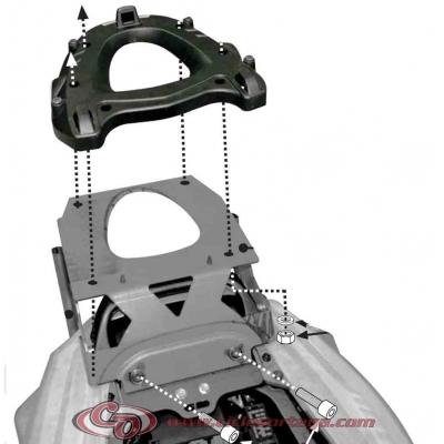 Kit Anclajes para BAUL sistema monokey KAWASAKI ZZR1400 2012-