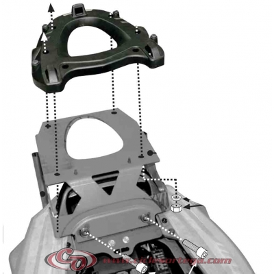 Kit Anclajes para BAUL sistema monolock KAWASAKI ZZR1400 2012-
