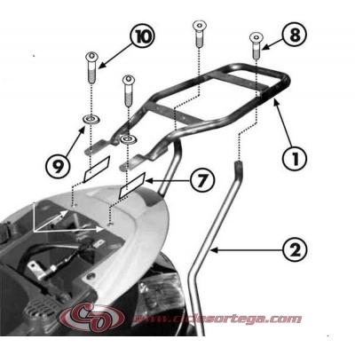 Kit Anclajes para BAUL sistema monolock PIAGGIO TYPHONN 50 2011-