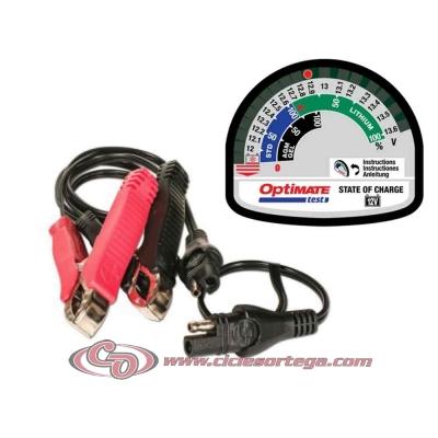 Comprobador de baterías y sistemas de carga Optimate Test