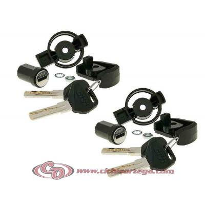 2 cerraduras de seguridad con bombín SL102 para baules Givi